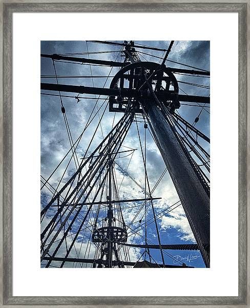 Framed Print featuring the photograph Masts And Rigging by David A Lane