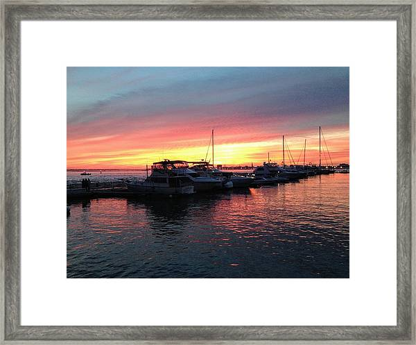 Masts And Steeples Framed Print