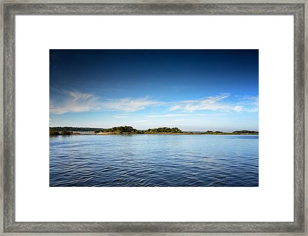 Blue River Inlet  Framed Print