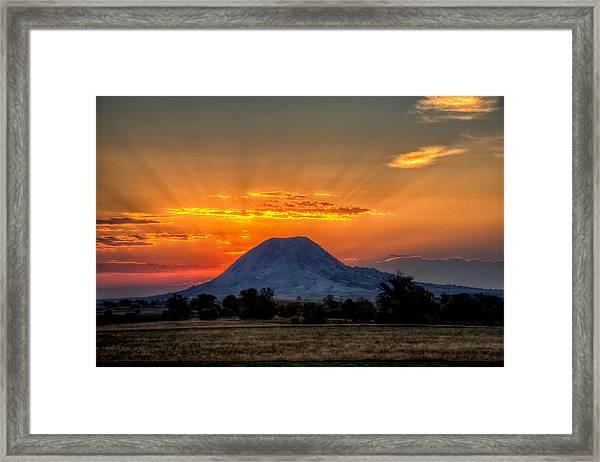 Mato Paha, The Sacred Mountain Framed Print