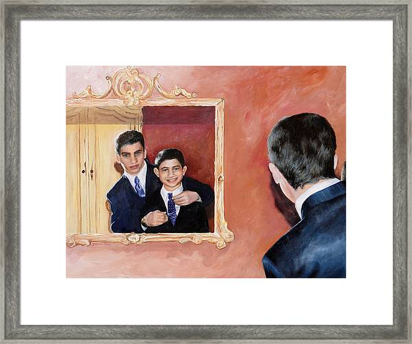 Matt And Perry Framed Print by Denise H Cooperman
