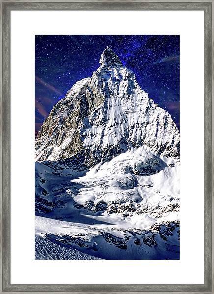 Matterhorn At Twilight Framed Print