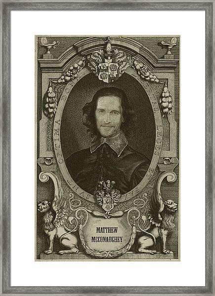 Matthew Mcconaughey   Framed Print