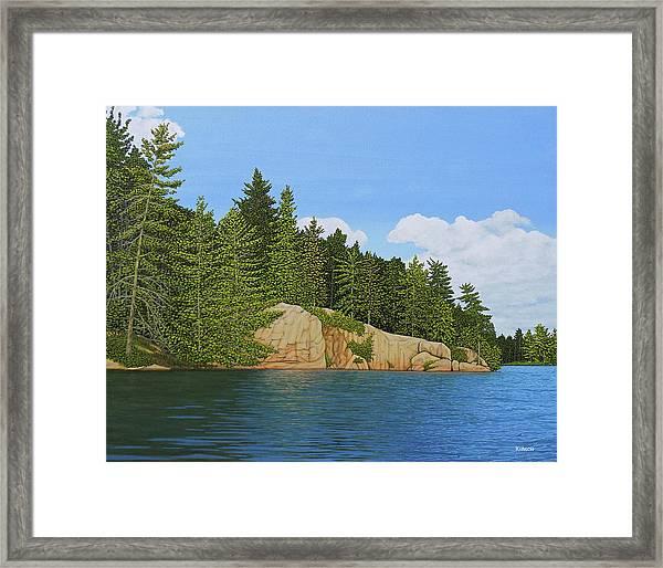 Matthew's Paddle Framed Print