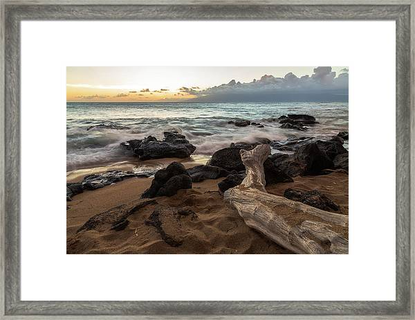 Maui Beach Sunset Framed Print