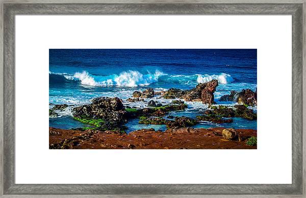 Maui Hawaii Breaking Surf  Framed Print
