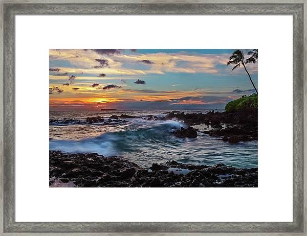 Maui Sunset At Secret Beach Framed Print