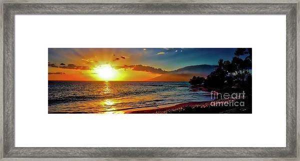 Maui Wedding Beach Sunset  Framed Print