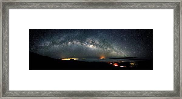 Mauna Kea Milky Way Panorama Framed Print