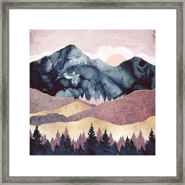 Mauve Vista Framed Print