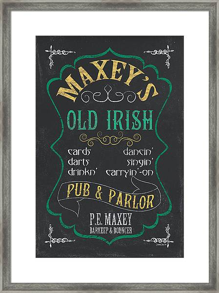 Maxey's Old Irish Pub Framed Print