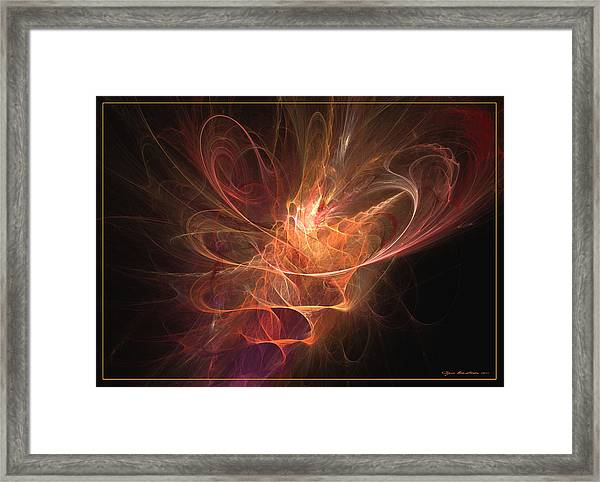 Maximum Power Of Love Framed Print
