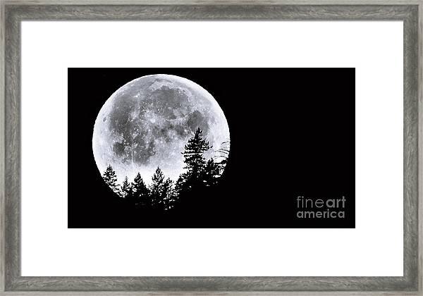 May 4 Moon Set Framed Print