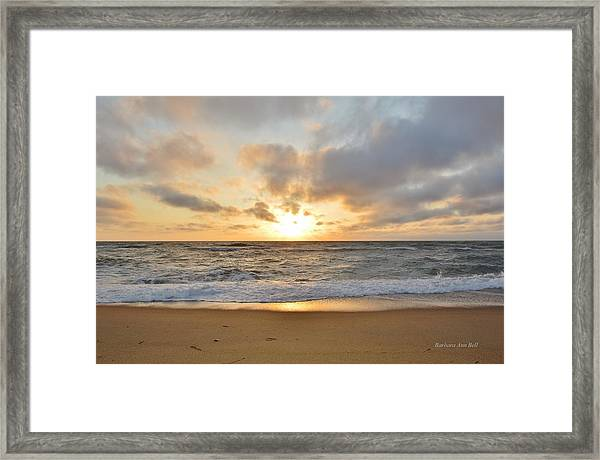 May Sunrise In Obx Framed Print
