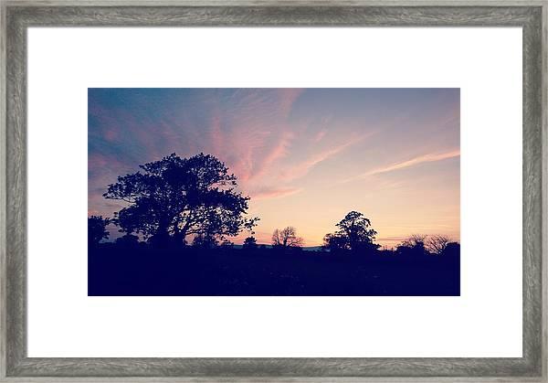 May Sunrise, Lancashire, England Framed Print
