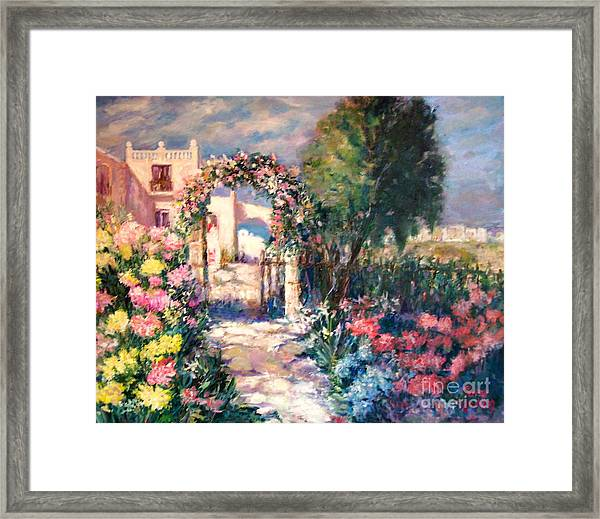 May Your Life Be Like A Flower Framed Print
