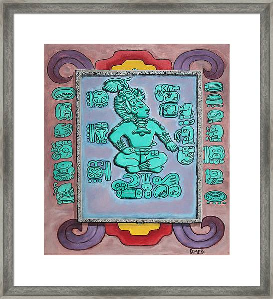 Framed Print featuring the painting Mayan Prince by Antonio Romero