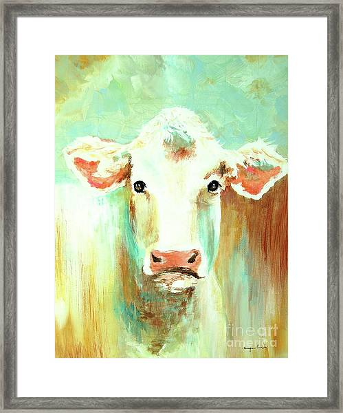 Maybell The Cow Framed Print