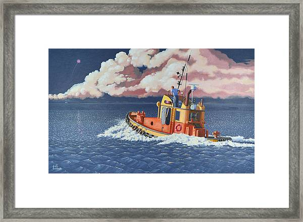 Mayday- I Require A Tug Framed Print