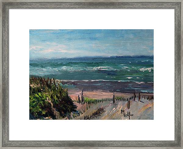 Mayflower Beach Framed Print