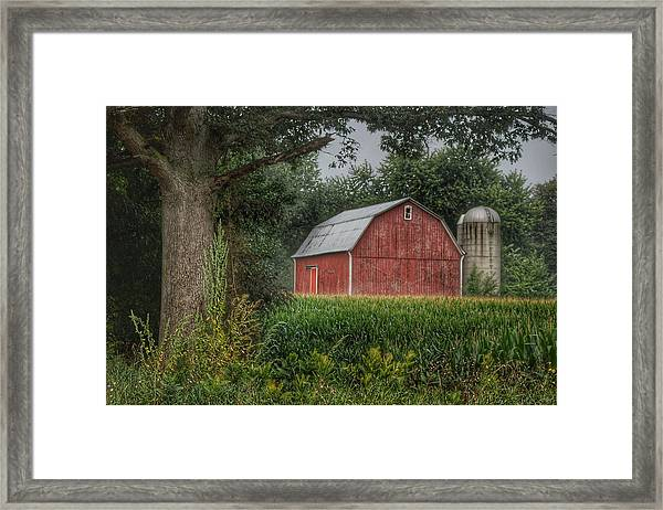 0027 - Mayville's Lapeer Road Red Framed Print