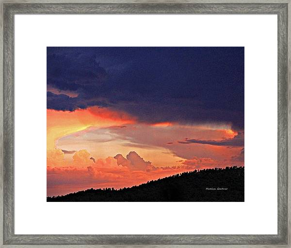 Mazatzal Peak Sunset Framed Print