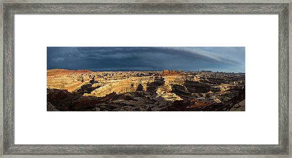 Maze Panorama Framed Print