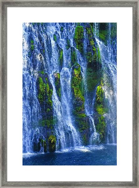 Mcarthur-burney Falls Framed Print