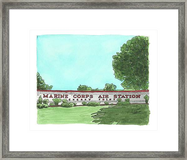 Mcas Cherry Point Welcome Framed Print