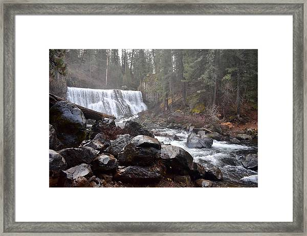 Mccloud Middle Fall Framed Print