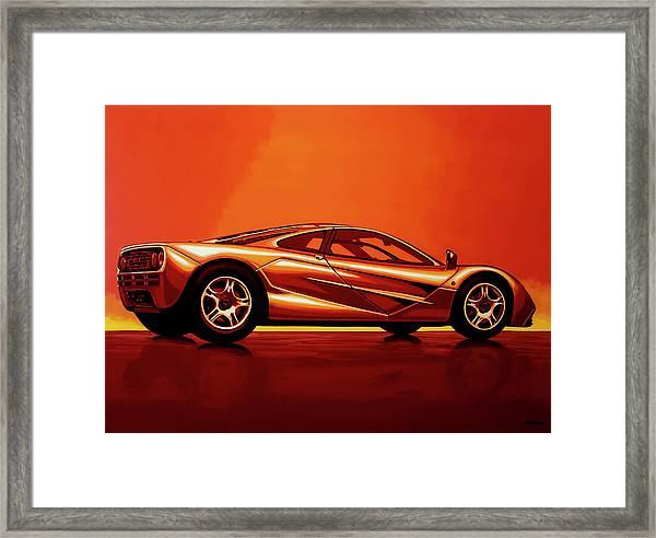 Mclaren F1 1994 Painting Framed Print