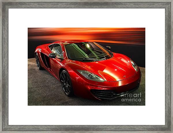 Mclaren Mph-12c Sportscar Framed Print