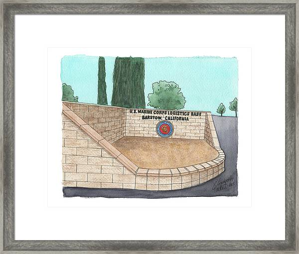 Mclb Barstow Welcome Framed Print