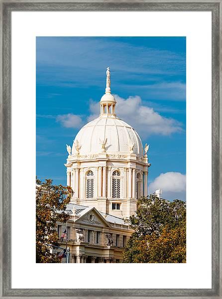 Mclennan County Courthouse Dome By J. Reily Gordon - Waco Central Texas Framed Print