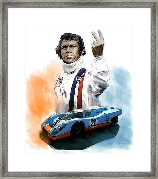 Mcqueens Passion Le Mans Steve Mcqueen Framed Print