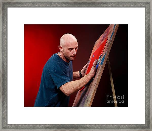 Me At Work Framed Print