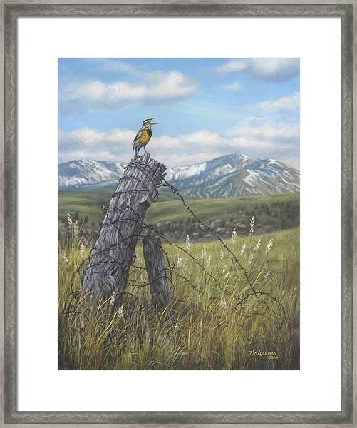 Meadowlark Serenade Framed Print