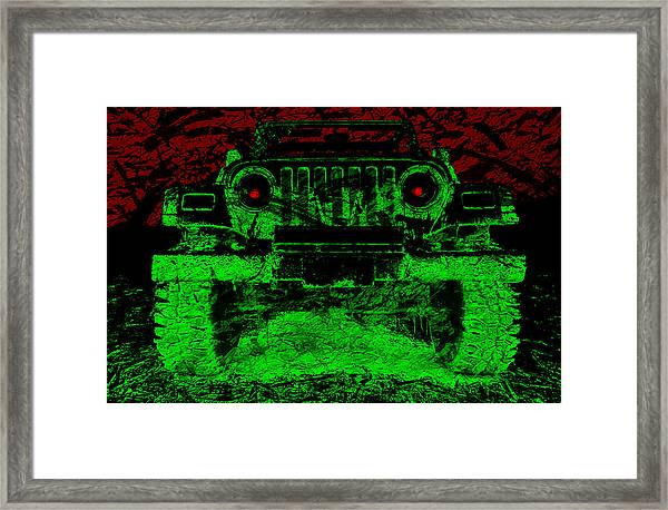 Mean Green Machine Framed Print