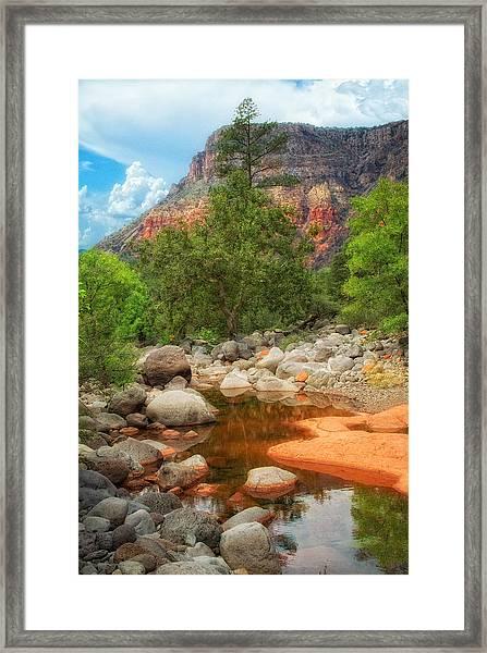 Meandering Oak Creek Canyon Framed Print