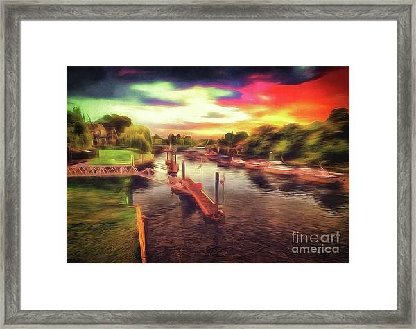 Meanwhile Back On The River Framed Print
