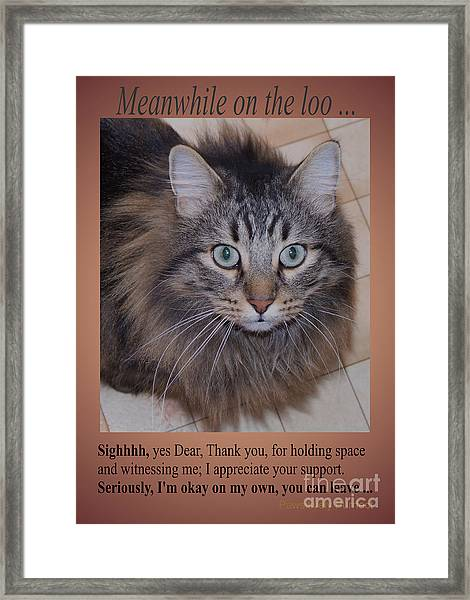Meanwhile On The Loo Framed Print