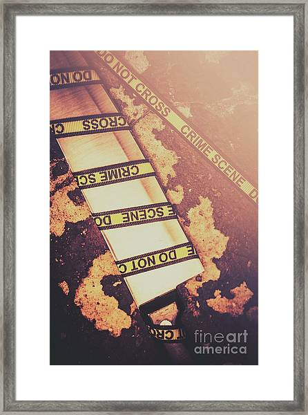 Meat Cleaver At Crime Spot Framed Print