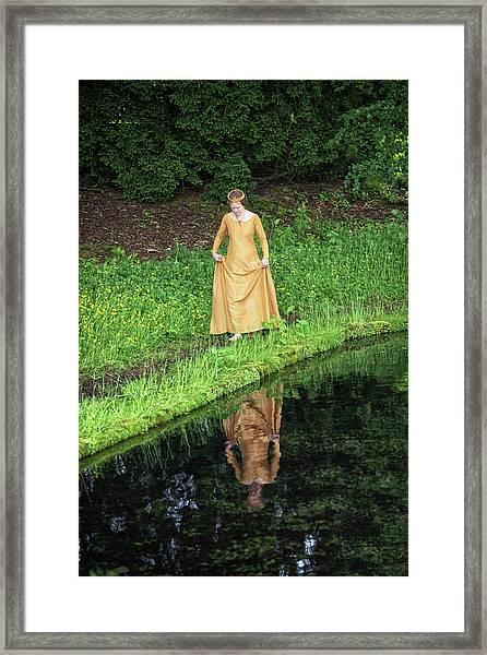 Medieval Lady, Barefoot Framed Print