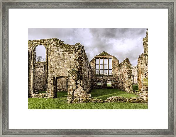 Framed Print featuring the photograph Medieval Ruins by Nick Bywater