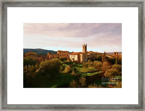 Medieval Tuscany Framed Print