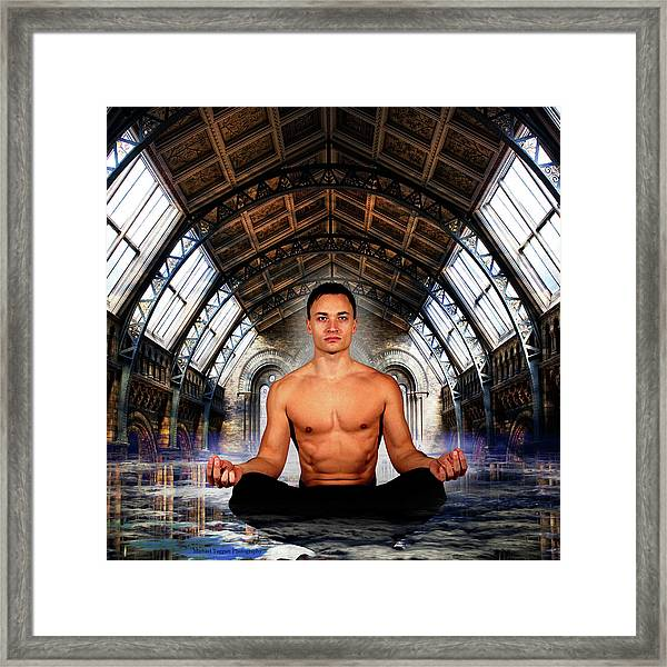 Framed Print featuring the photograph Meditation Inception Style by Michael Taggart