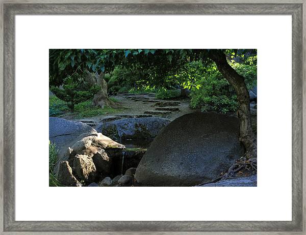 Meditation Path Framed Print