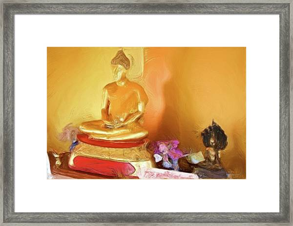Meditation Room Buddha Framed Print