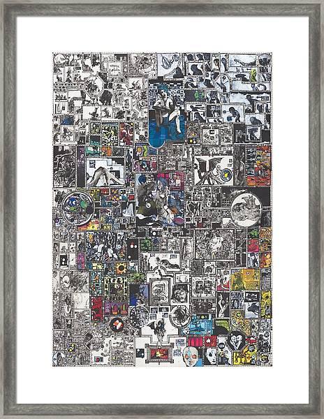Medusa Maze Framed Print