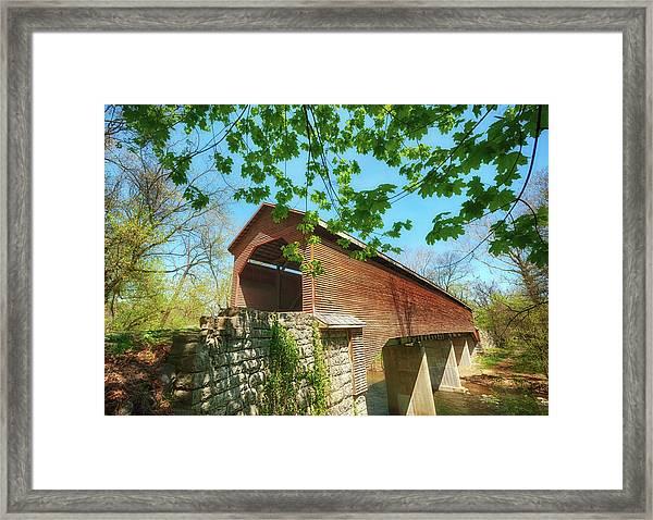 Meem's Bottom Bridge In Spring Framed Print